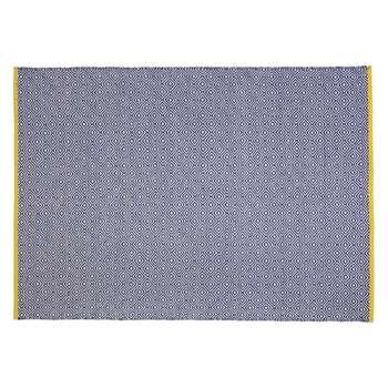 Habitat Lucas Medium Blue Flat Weave Rug 140 x 200cm
