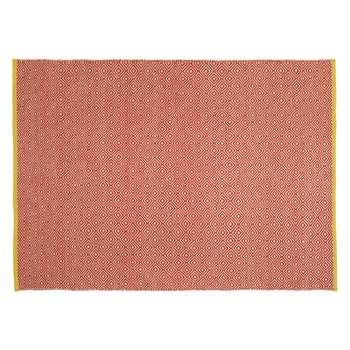 Habitat Lucas Medium Red Flat Weave Rug 140 x 200cm