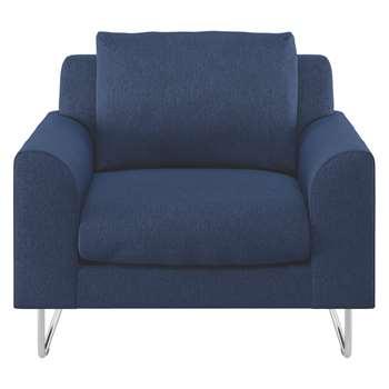 Habitat Lyle Blue Fabric Armchair (79 x 87cm)