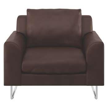 Habitat Lyle Brown Premium Leather Armchair