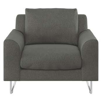 Habitat Lyle Charcoal Fabric Armchair (79 x 87cm)