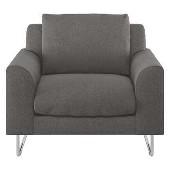 Habitat Lyle Charcoal Tweed Wool Mix Armchair (79 x 87cm)