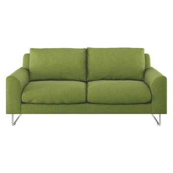 Habitat Lyle Green Wool 2 Seater Sofa (79 x 170cm)