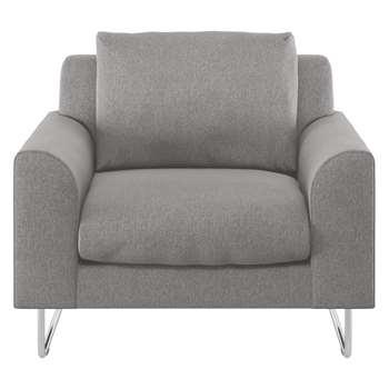 Habitat Lyle Grey Fabric Armchair (79 x 87cm)