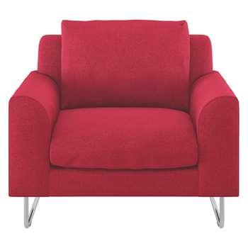 Habitat Lyle Red Textured Fabric Armchair (79 x 87cm)
