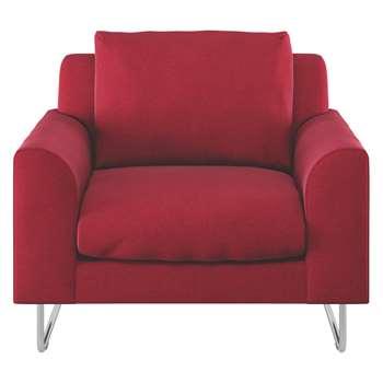 Habitat Lyle Red Wool Armchair (78 x 87cm)