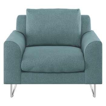 Habitat Lyle Teal Fabric Armchair (79 x 87cm)
