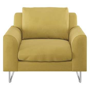 Habitat Lyle Yellow Textured Fabric Armchair (79 x 87cm)