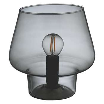 Habitat Lyss Smoked Glass Table Lamp (Width 19cm)