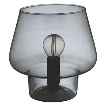 Habitat Lyss Smoked Glass Table Lamp (Width 19cm)