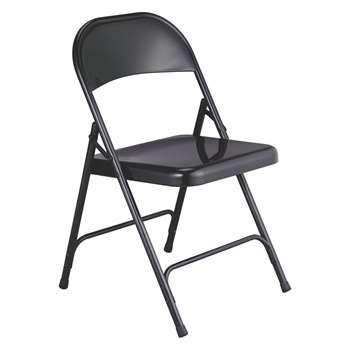 Habitat Macadam Black Metal Folding Chair (78.5 x 47cm)