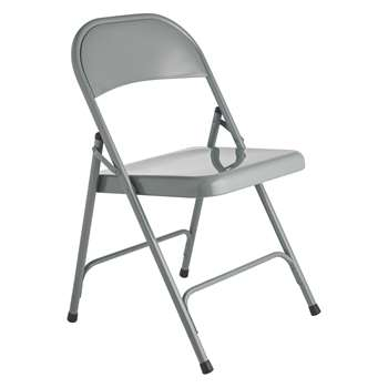 Habitat Macadam Grey Metal Folding Chair (78.5 x 47cm)