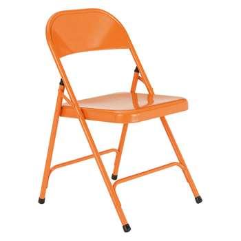 Habitat Macadam Orange Metal Folding Chair (78.5 x 47cm)