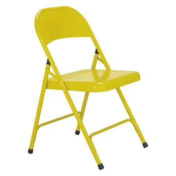 Habitat Macadam Saffron Yellow Metal Folding Chair (H78.5 x W47 x D49.5cm)