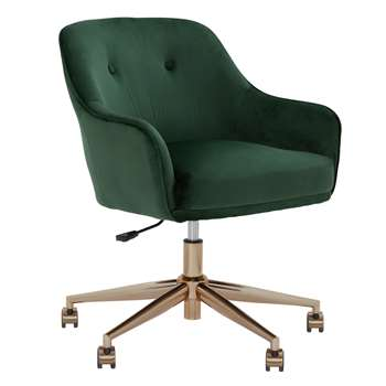 Habitat Marco Office Chair - Forest Green (H89 x W64 x D60cm)