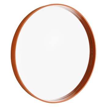 Habitat Matilda Orange High-Gloss Round Mirror (Diameter 60cm)