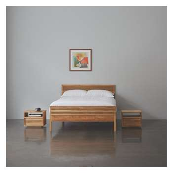 Habitat Max Max 135cm Double Bed, Coen Mattress And 2 Bedside Tables