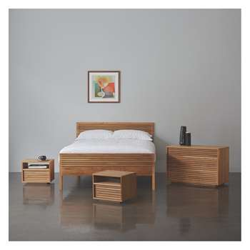 Habitat Max Max 150cm Kingsize Bed, Coen Mattress, Chest Of Drawers And 2 Bedside Tables
