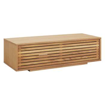 Habitat Max Oak Small AV Unit 34 x 108.5cm