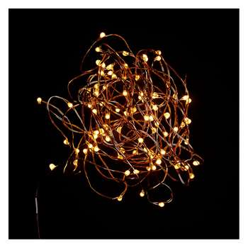 Habitat Micro 100 LED Copper Wire Christmas Lights (Length 505cm)