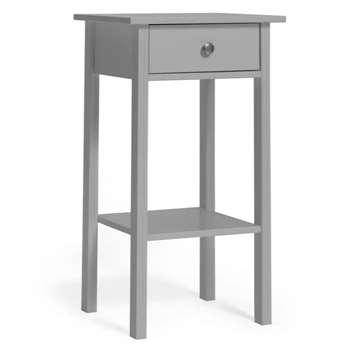 Habitat Minato 1 Drawer Bedside Table - Grey (H65 x W40 x D35cm)