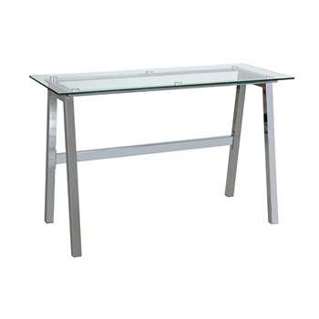 Habitat Mirano Office Desk - Clear Glass (H75 x W120 x D50cm)