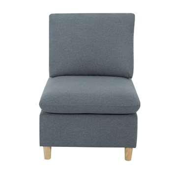 Habitat Mod Fabric Armchair without Arms - Grey (H91 x W66 x D88.5cm)