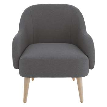 Habitat Momo Charcoal Fabric Armchair (80 x 72cm)