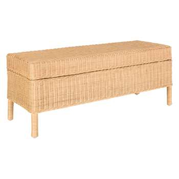 Habitat Nadia Natural Handwoven Rattan Trunk With Storage (81 x 52cm)