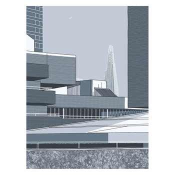 Habitat National Theatre Print By Jane Smith (80 x 60cm)