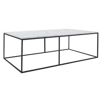 Habitat Nestor Large Rectangular Marble Coffee Table (H35 x W120 x D50cm)