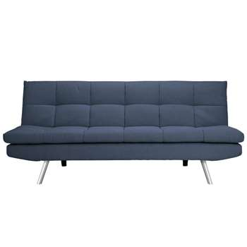 Habitat Nolan 3 Seater Fabric Sofa Bed - Denim Blue (H82.5 x W180 x D84cm)