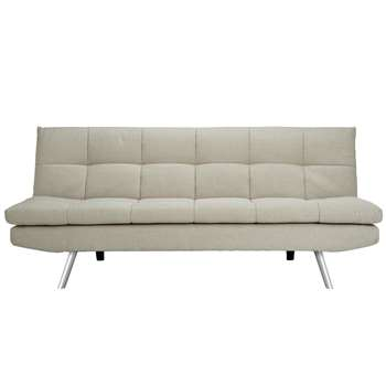 Habitat Nolan 3 Seater Fabric Sofa Bed - Natural (H82.5 x W180 x D84cm)