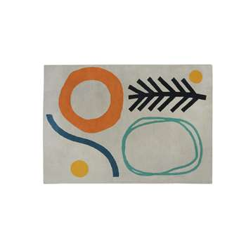 Habitat Novak Abstract Rug - Multicoloured (H160 x W230cm)