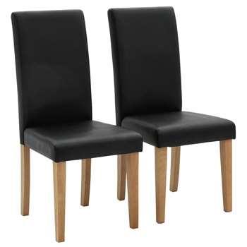 Habitat Pair of Midback Dining Chairs - Black (H95 x W44 x D54cm)