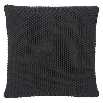 Habitat Paloma Charcoal Grey Knitted Cotton Cushion (H45 x W45cm)