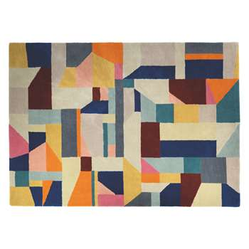 Habitat Patch Large Multi-Coloured Wool Rug (170 x 240cm)