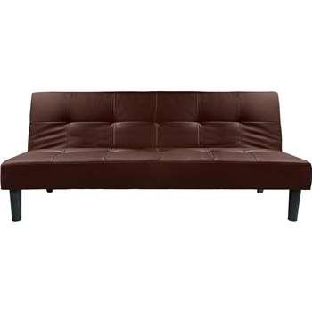 Habitat Patsy 2 Seater Clic Clac Sofa Bed - Chocolate (H77 x W179 x D93.5cm)