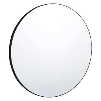 Habitat Patsy Extra Large Round Black Wall Mirror (Diameter 110cm)