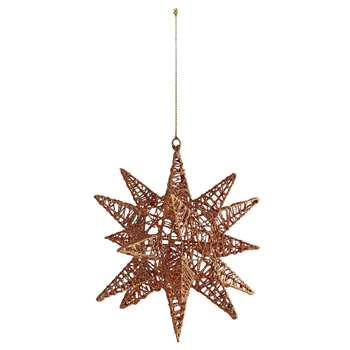 Habitat Polaris Bronze Star Bauble (H14.6 x W14cm)