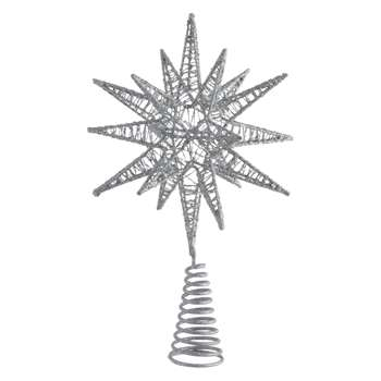 Habitat Polaris Silver Star Christmas Tree Topper (30 x 19cm)