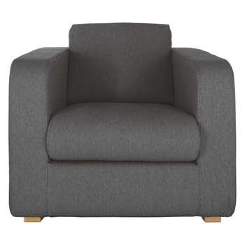 Habitat Porto Charcoal Fabric Armchair (82 x 101cm)