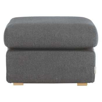 Habitat Porto Charcoal Fabric Footstool (44 x 60cm)
