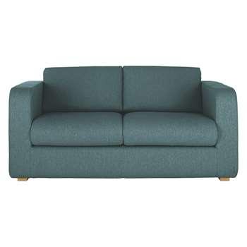 Habitat Porto Teal Blue Fabric 2 Seater Sofa (82 x 172cm)