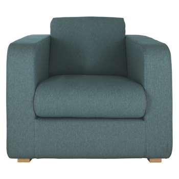 Habitat Porto Teal Blue Fabric Armchair (82 x 101cm)