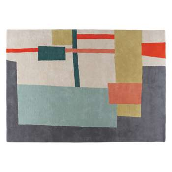 Habitat Quentin Medium Multi-Coloured Wool Rug (140 x 200cm)