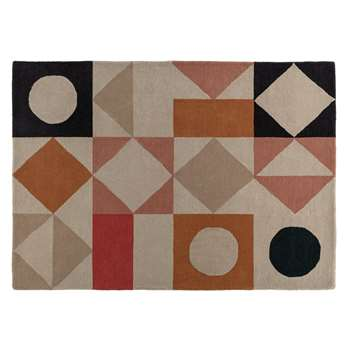 Habitat Quinn Patterned Wool Rug - Multicoloured (H140 x W200cm)