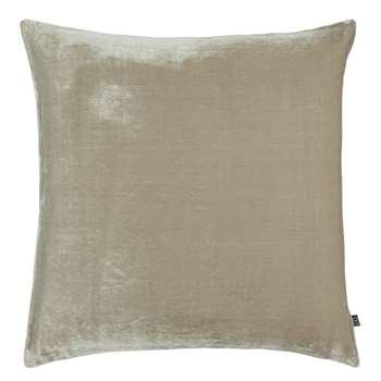 Habitat Regency Velvet Cushion - Taupe (H58 x W58cm)