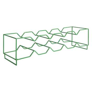 Habitat Rello Stackable 5 Bottle Green Wine Rack (11 x 51.5cm)
