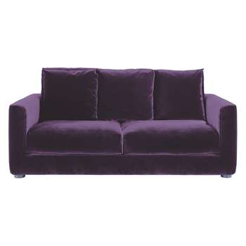 Habitat Rupert Purple Velvet 2 Seater Sofa Bed (86 x 180cm)